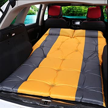 Amazon.com: POTA R&R Car Outdoor Travel Bed Airbed Mattress Rear SUV car, Beige Suede 5cm: Home & Kitchen