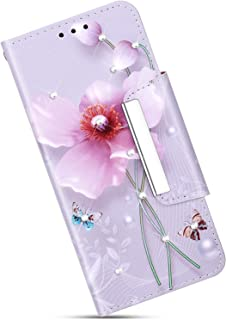 Felfy Compatible avec Galaxy Note 8 Housse Portefeuille,Compatible avec Galaxy Note 8 Coque Luxe Cristal Strass Motif Peint Etui Housse en Cuir Wallet Cover Case avec Fonction Support