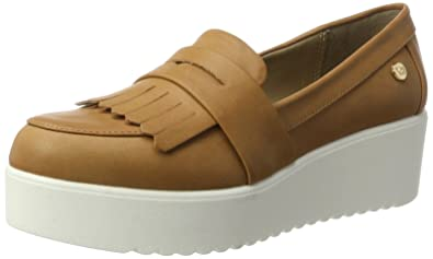 XTI Camel PU Ladies Shoes, Mocasines para Mujer: Amazon.es: Zapatos y complementos