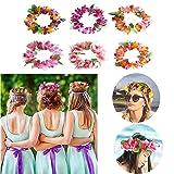 NewSheep 24 PCS Luau Tropical Hawaiian Headband