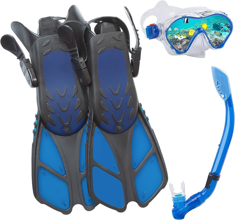 Dry Snorkel Tube Travel Bags Adjustable Swimming Kids Flippers Aisrida Kids Snorkeling Set Children Mask Fin Snorkel Set Snorkeling Gear Snorkel Mask