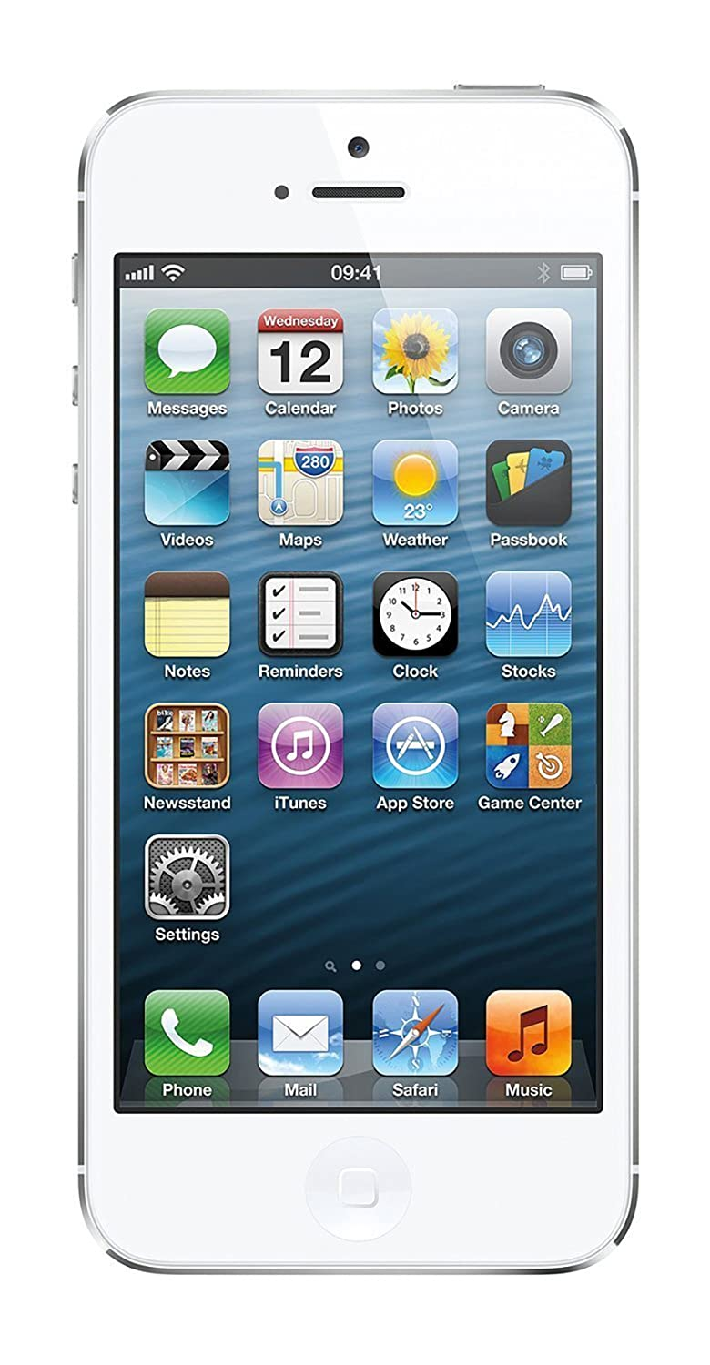 Amazon.com: Apple iPhone 5, GSM Unlocked, 32GB - White (Refurbished): Cell  Phones & Accessories