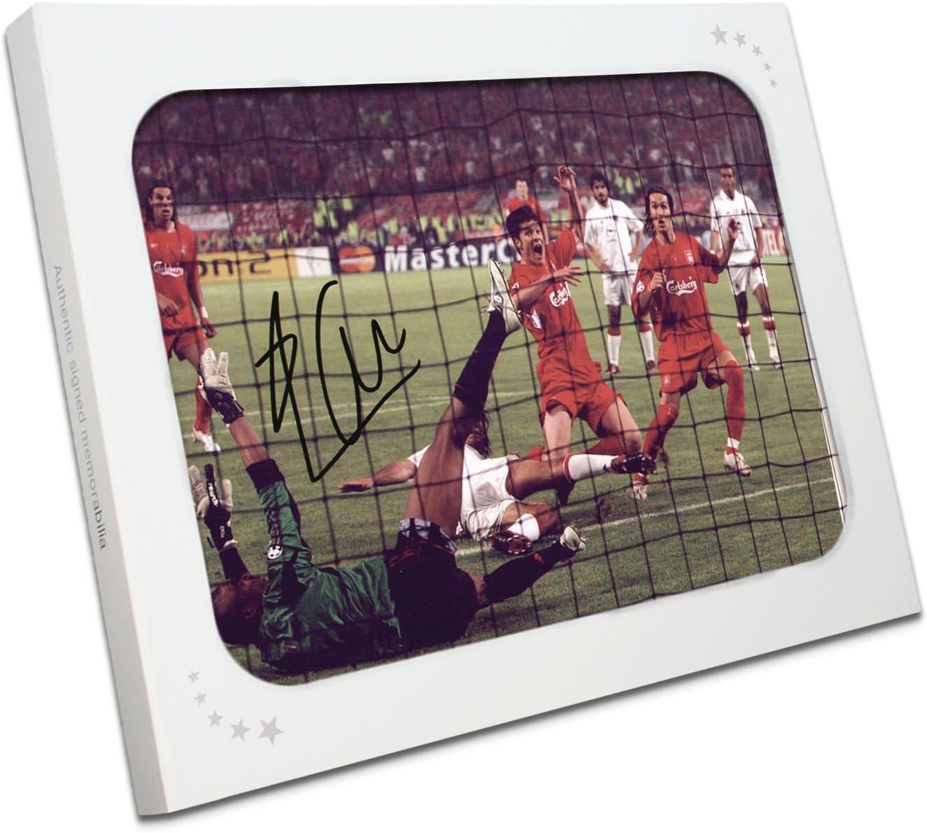 Milagro de Estambul Liverpool foto firmada por Xabi Alonso. En la caja de regalo: Amazon.es: Deportes y aire libre