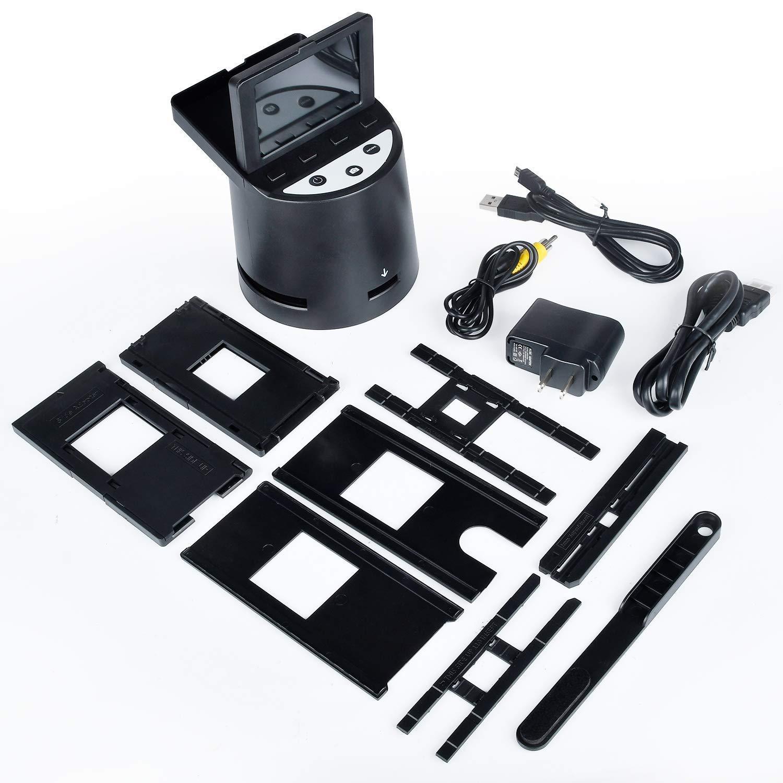 Konvertiert Super-8-Filme 35-mm-Dias und -Negative Hochaufl/ösender 22MP Diascanner 110 und 126 Film zu Digital Photo,Unterst/ützt PC und Mac