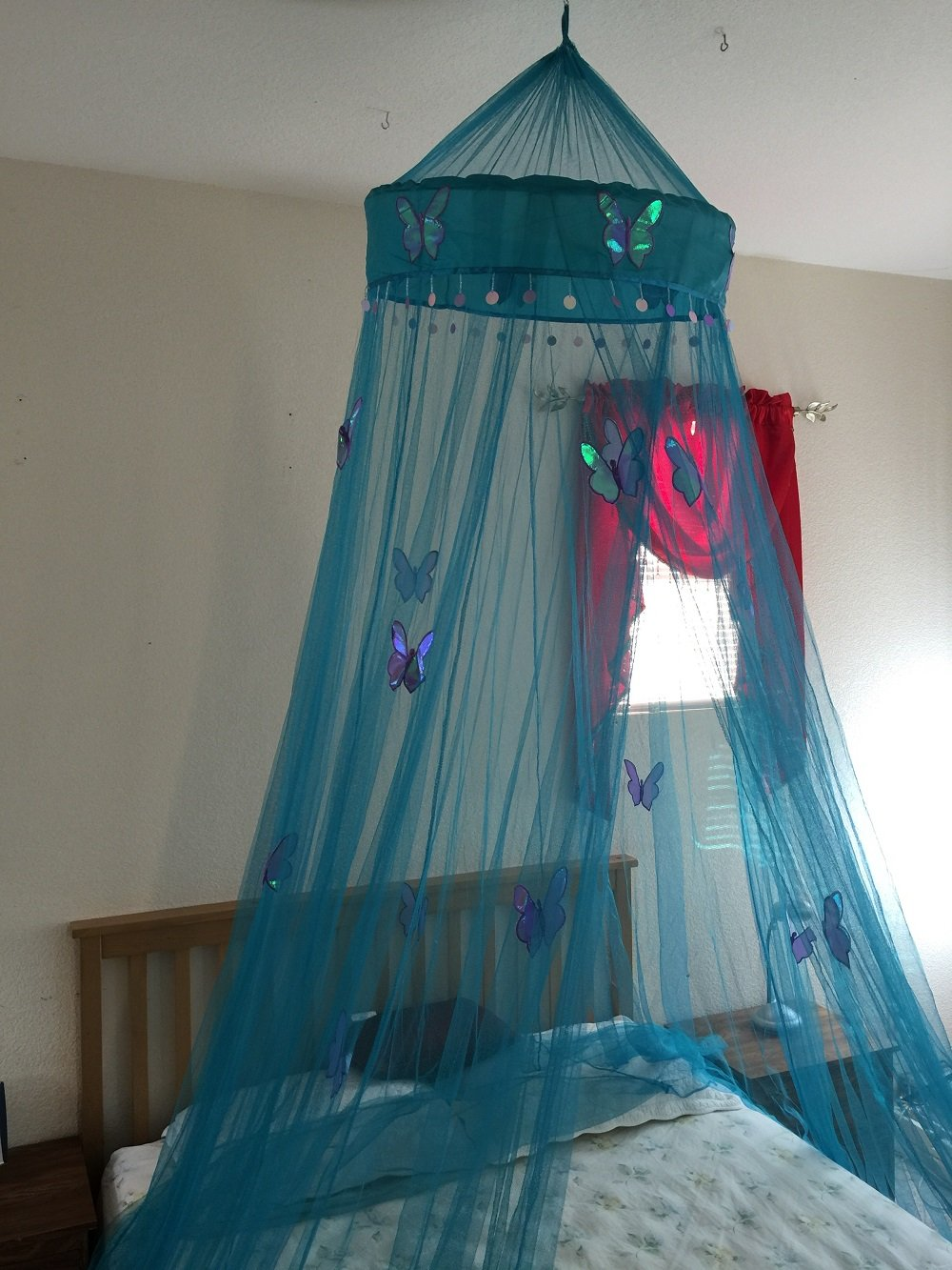 Amazon.com Octorose ® Butterfly Bed Canopy Mosquito NET Crib Twin Full Queen King (Teal Blue) Kitchen u0026 Dining & Amazon.com: Octorose ® Butterfly Bed Canopy Mosquito NET Crib Twin ...