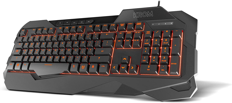 Krom KROWN - NXKROMKROWN - Teclado Gaming Membrána, Color Negro: Krom: Amazon.es: Informática