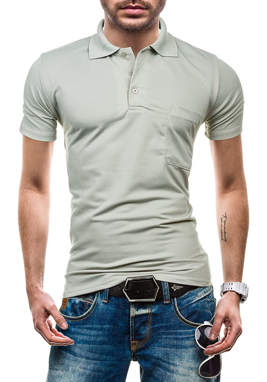 BOLF Hombre Camiseta con Polo Cuello y Manga Corta KAIDITE 536 ...