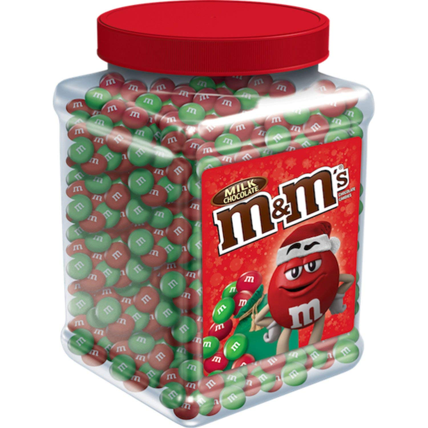 Red and green Christmas holiday m&m's...yum! #christmas #m&ms