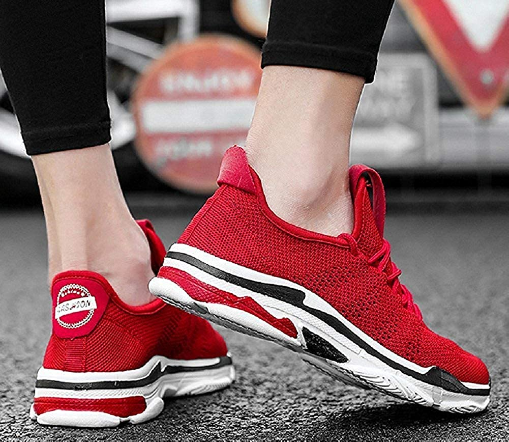 Beautiful Fashion Running Shoes for Couple Fashion Casual Breathable Flyknit Sneakers