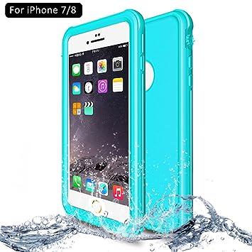 e2bc00efa72 NewTsie Funda iPhone 7, Funda iPhone 8, Anti-rasguños Impermeable Carcasa  Funda Case con Protector de Pantalla Submarino Caso para iPhone 7/8 4.7  Inch ...