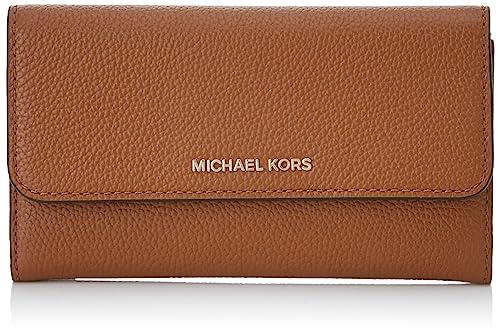 Michael Kors Damen Mercer Large Trifold Wallet Geldbeutel, Schwarz, 10x2x18 cm