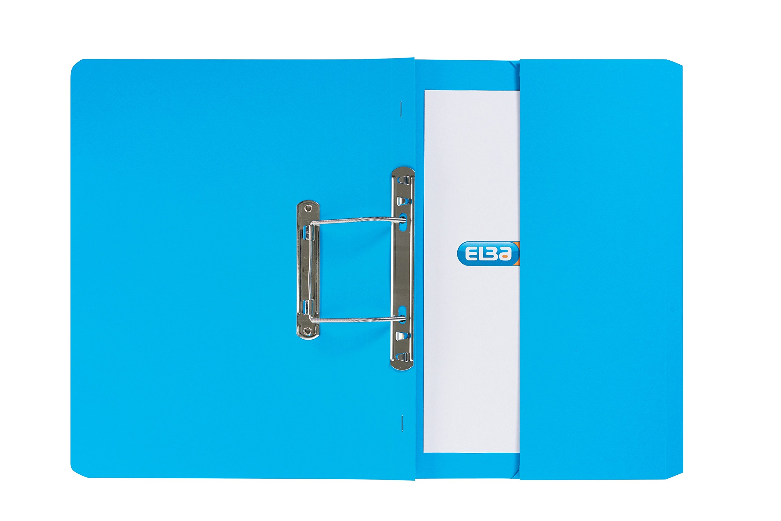 Elba Stratford Transfer Spring File with Pocket Recycled 315gsm 32mm Foolscap Blue Ref 30113 [Pack of 25]