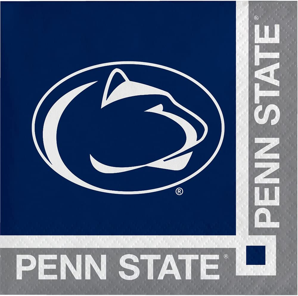 20-Count Paper Beverage Napkins, Penn State Nittany Lions