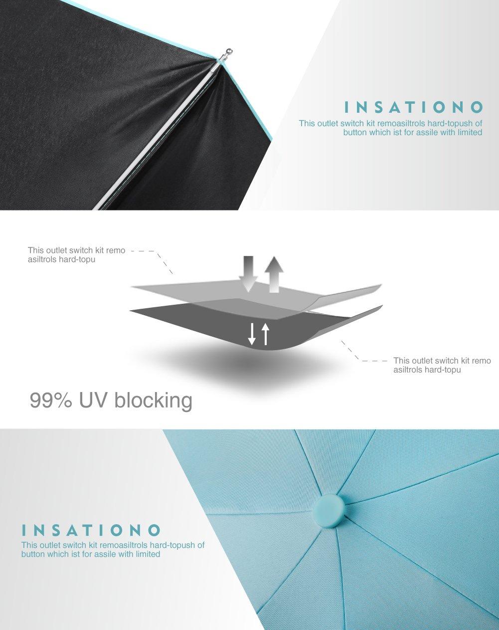 Plemo Paraguas Plegable Mini Paraguas Tiffany Blue Anti - UV y Compacto Ultra- Ligero ideal para los viajes y el verano: Amazon.es: Equipaje