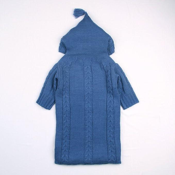 mimixiong bebé saco de dormir patrones para tejer algodón sobres para recién nacidos cochecito de bebé bebés infantil sacos de dormir de manga completo azul ...
