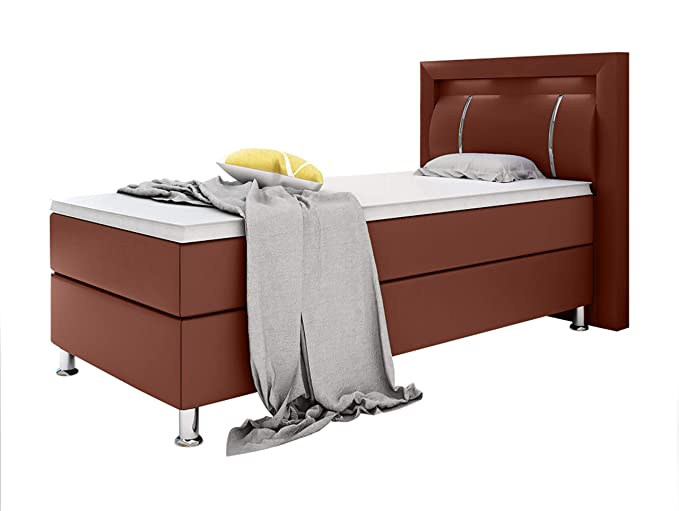 Home Collection24 GmbH Boxspringbett Inegol 90 x 200 cm mit 7 Zonen Taschenfederkernmatratze Topper in H3 Hotelbett Einzelbet