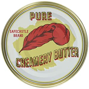 Red Feather Canned Butter. Gourmet Grass Fed Butter from New Zealand. Great for Hurricane Preparedness, Emergency Survival Food Kits. Bundled w/Safecastle Guide (24 Cans)