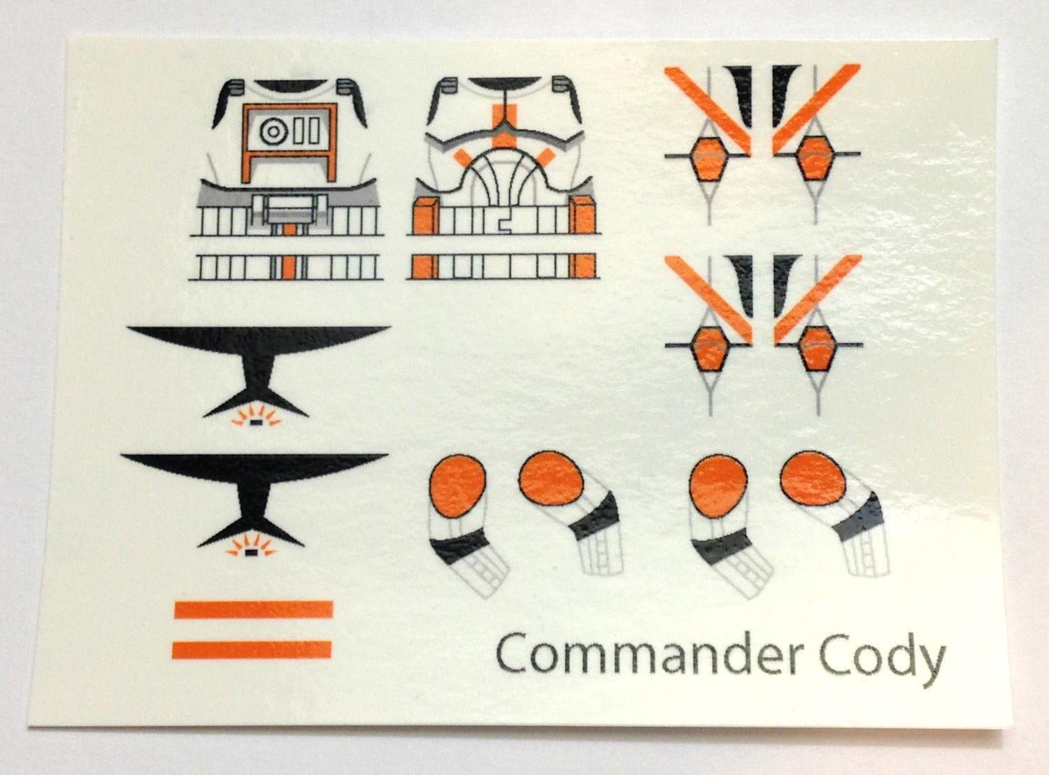 Small Scale Star Wars White Clone Trooper Havoc Squad Waterslide Decals