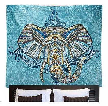 eathic toalla de playa de impresión de elefante de colores personalizable redondo Cable de finas activo