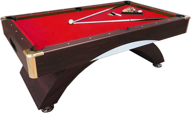 Simba Srl Mesa de Billar Juegos de Billar Pool 7 ft Carambola Medición de 188 x 94 cm Napo Nuevo embalado Disponible Rojo!MAS Vendido: Amazon.es: Deportes y aire libre
