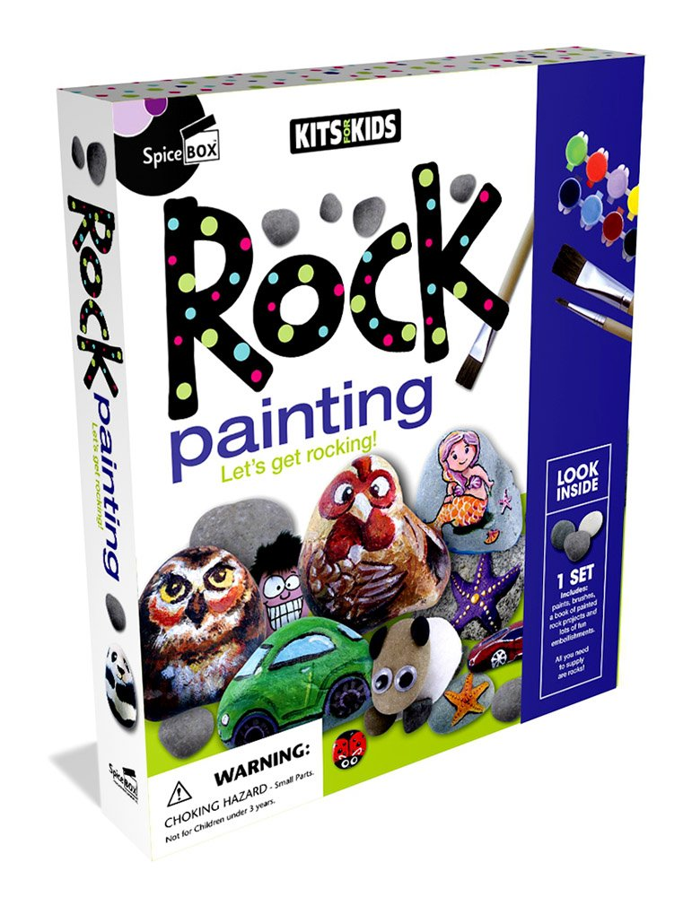 Spicebox Kits for Kids Rock Painting