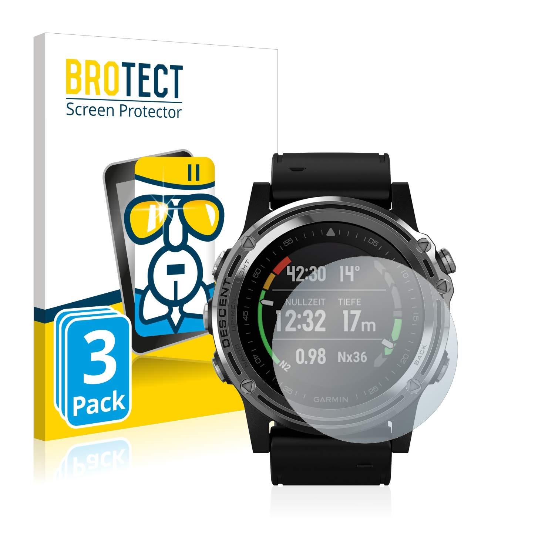 - Protecteur Vitre 9H 3 Pi/èces BROTECT Protection Ecran Verre Compatible avec Garmin Descent Mk1 AirGlass