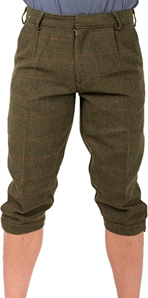 Mens Game Derby Tweed Breeks Trousers Hunting  Shooting  Plus Fours Breeches New