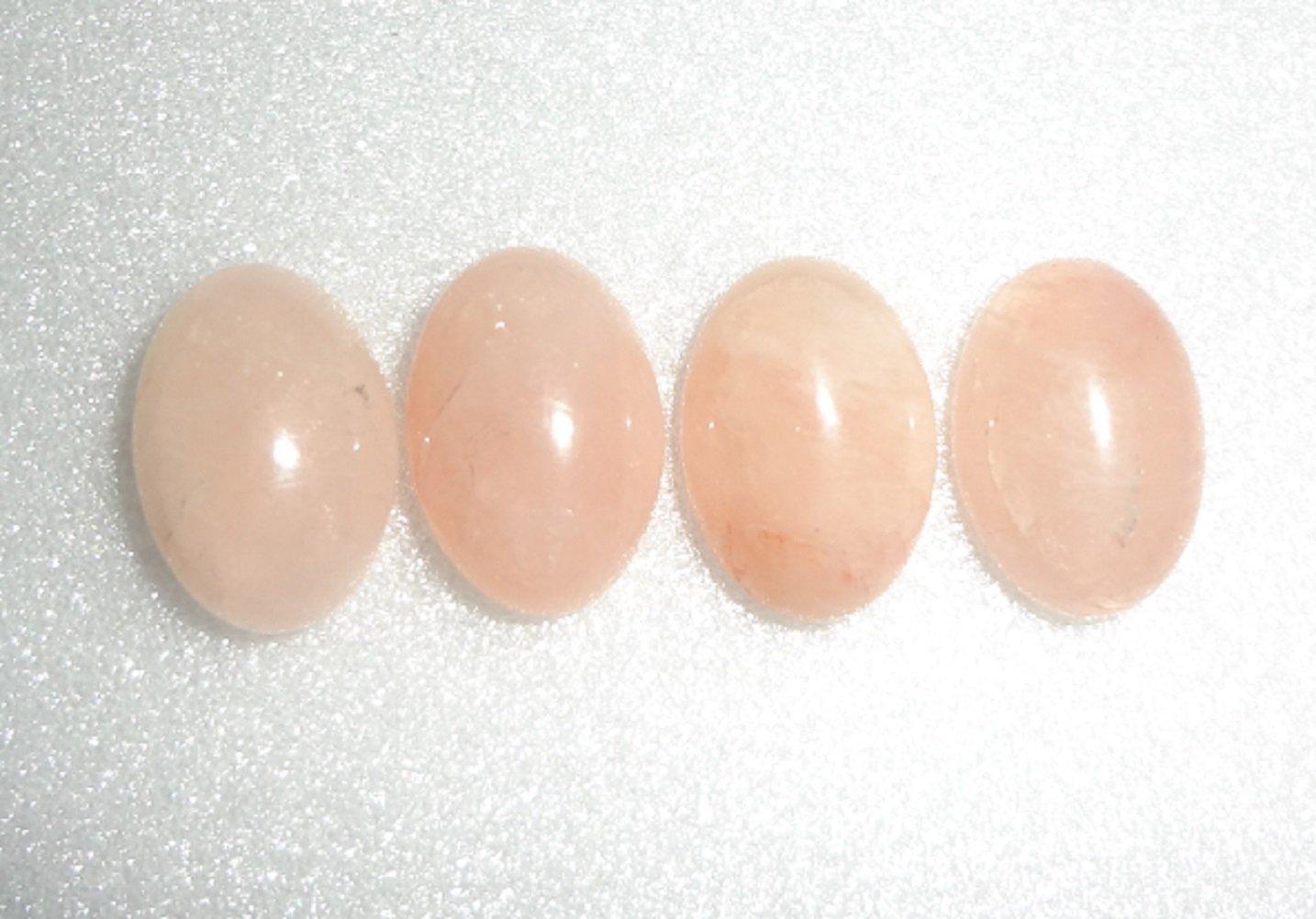 Charming Beads Pacco 3 x Rosa Quarzo 10 x 14mm Cabochon Ovale CA16667-3