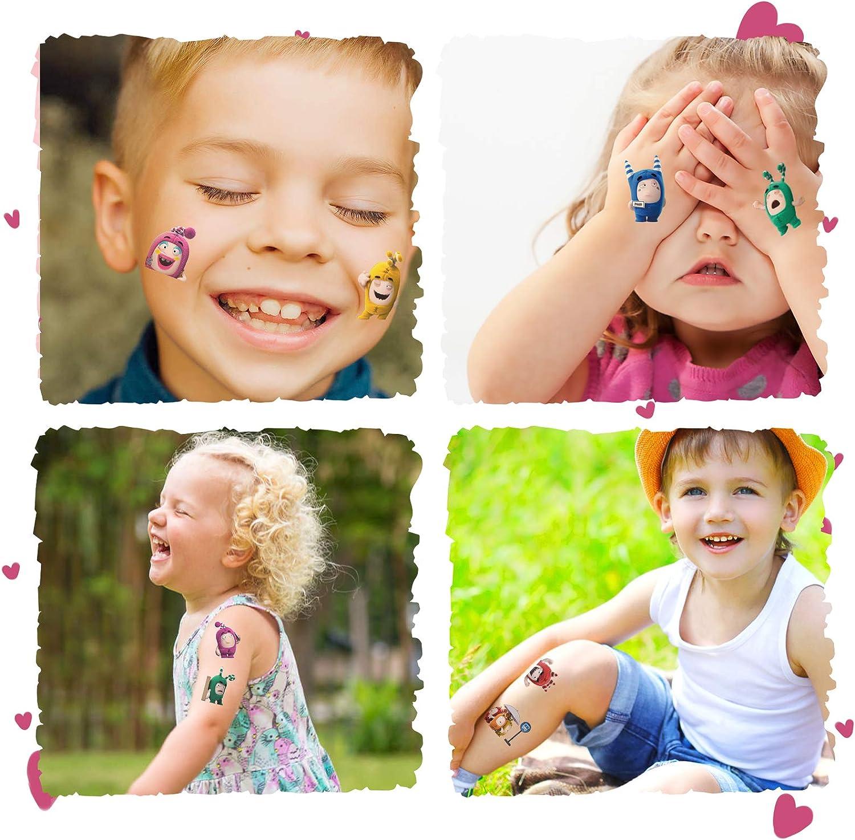 720pcs Waterproof Temporary Video Cartoon Stickers for Girls Boys Kids Class Activity Oddbods Tattoos Party Supplies Decorations Favors