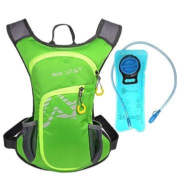 Rullaco - Mochila de hidratación con capacidad para 2 litros de agua, impermeable, para correr, ciclismo, escalada, unisex, verde: Amazon.es: Deportes y ...