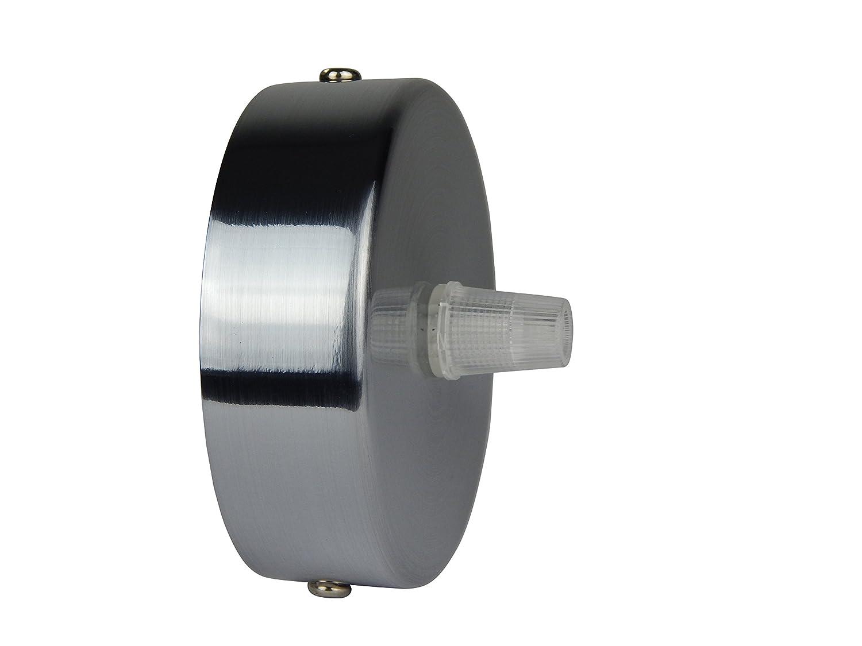 Florón cepillado | embellecedor para lámpara de techo, suspensor estándar tamaño m10, 80x25 mm | embellecedor para lámpara de techo | incl. ...