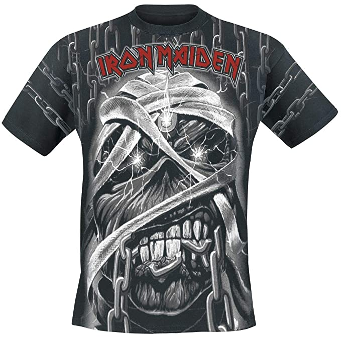 Iron Maiden Mummy - Allover Camiseta Negro M