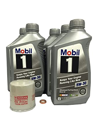 Synthetic Oil Change >> Amazon Com Mobil 1 5w 30 Full Synthetic Oil Change Kit 15208 65f0e