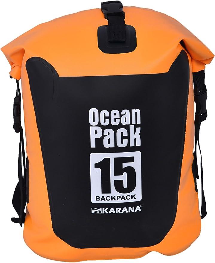 Karana Ocean Pack impermeable bolsa seca 15 litros (116014515), color naranja 1 pcs.: Amazon.es: Deportes y aire libre