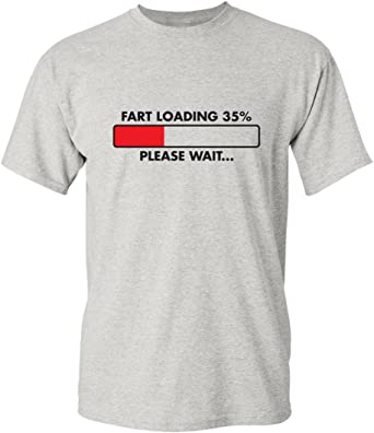 Sarcasm Loading Please Wait Funny Novelty T-Shirt Mens tee TShirt