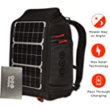 Voltaic Systems Array Rapid Solar Backpack Charger for Laptops   Includes a Battery Pack (Power Bank) and 2 Year Warranty   Powers Laptops Including Apple MacBook, Phones, USB Devices, More - Silver