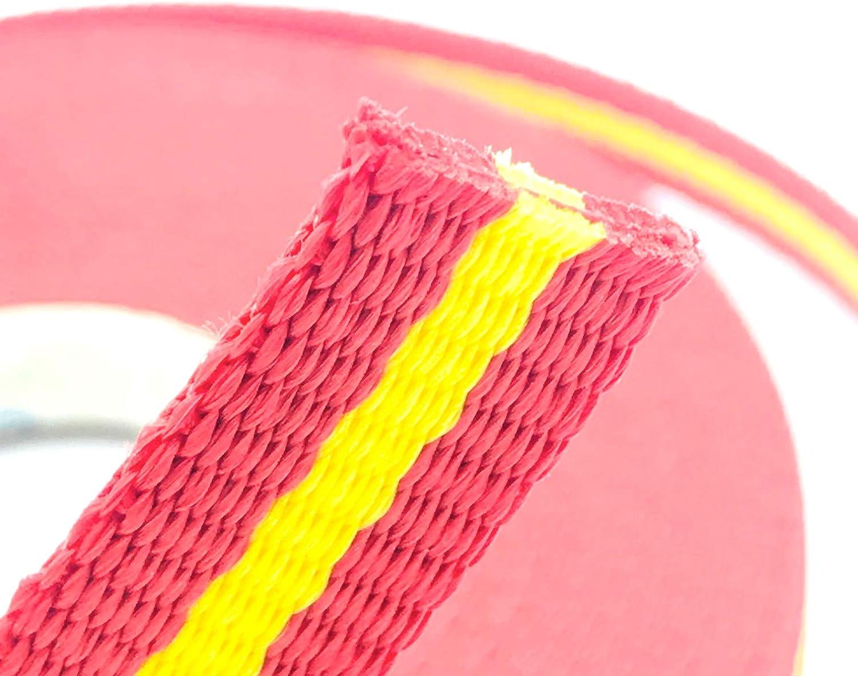 Cinta Nylon Polipropileno | Longitud 10 Metros | Anchura 25 MM | Color Bandera España | Alta Resistencia | Doble Tejido | Collar Perros: Amazon.es: Hogar