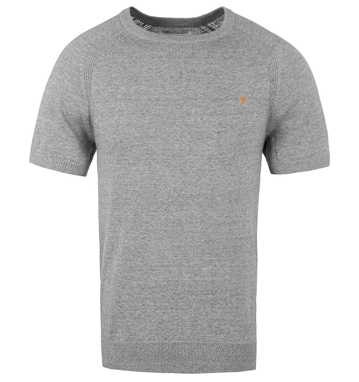 Farah Ethan Light Grey Marl Raglan sleeve Maglietta