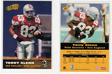 2000 Metal Football Card #49 Terry Glenn