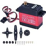 Quimat LD-20MG Servo Digital Super Speed Titanium Gear Standard 20KG Metal Gear Numérique pour RC Helicoptere Voiture Robot de 180 Degrés DIY