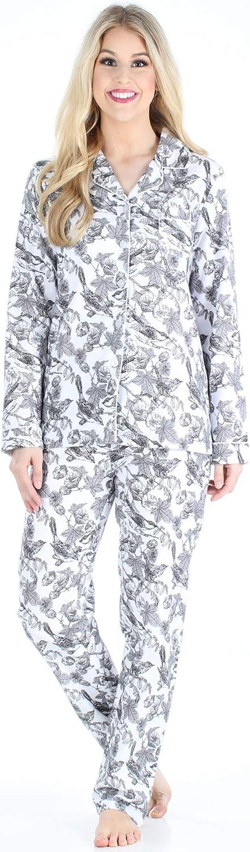 Ladies  2 Piece Pajama Set Gray Polka Dot  Size 2X