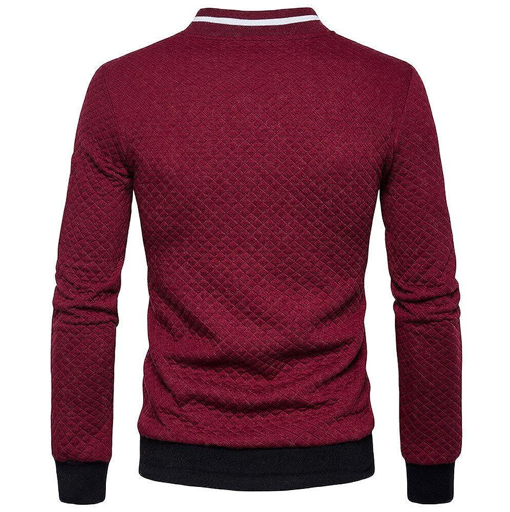 Theshy Mens Long Sleeve Plaid Cardigan Zipper Sweatshirt Tops Jacket Coat Outwear Men Coats Winter Casual Sports Jacket