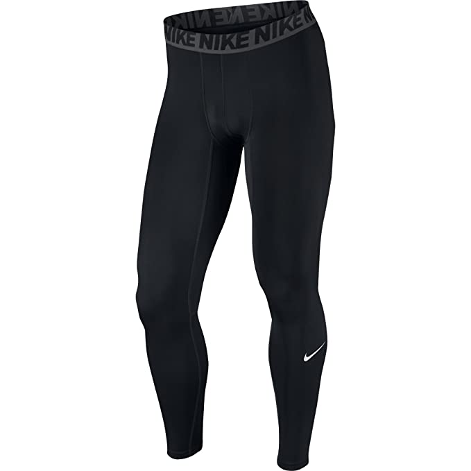 3c57fdafe3c1b NIKE Men's Base Layer Training Tights, Black/Dark Grey/White, Small