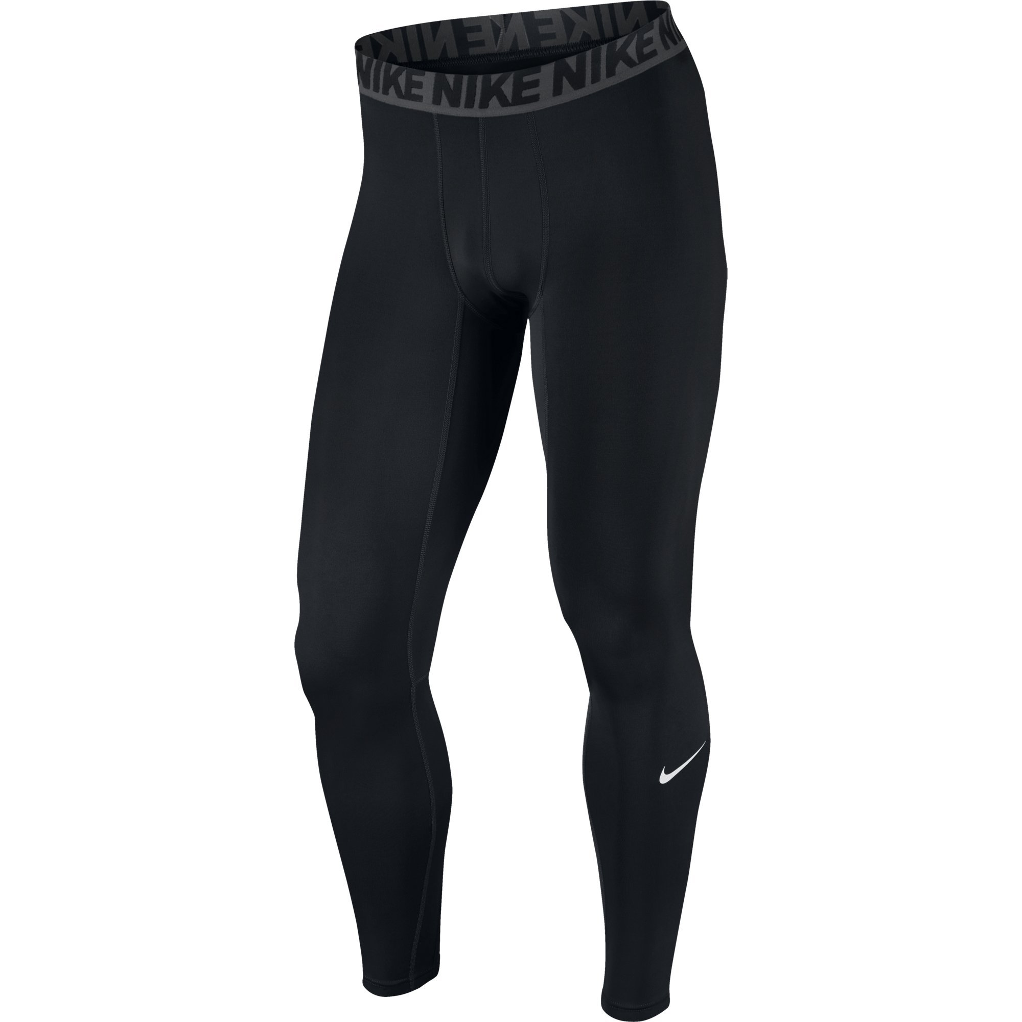 NIKE Men's Base Layer Training Tights, Black/Dark Grey/White, Medium by Nike (Image #1)