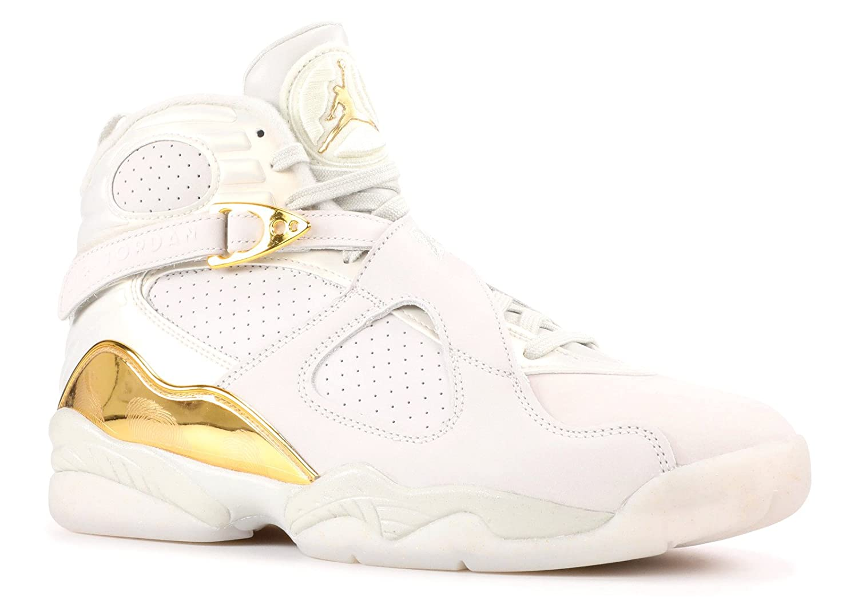 83d3cd92eed Amazon.com | Nike Mens Air Jordan 8 Retro C&C Light Bone/Metallic Gold  Leather | Basketball