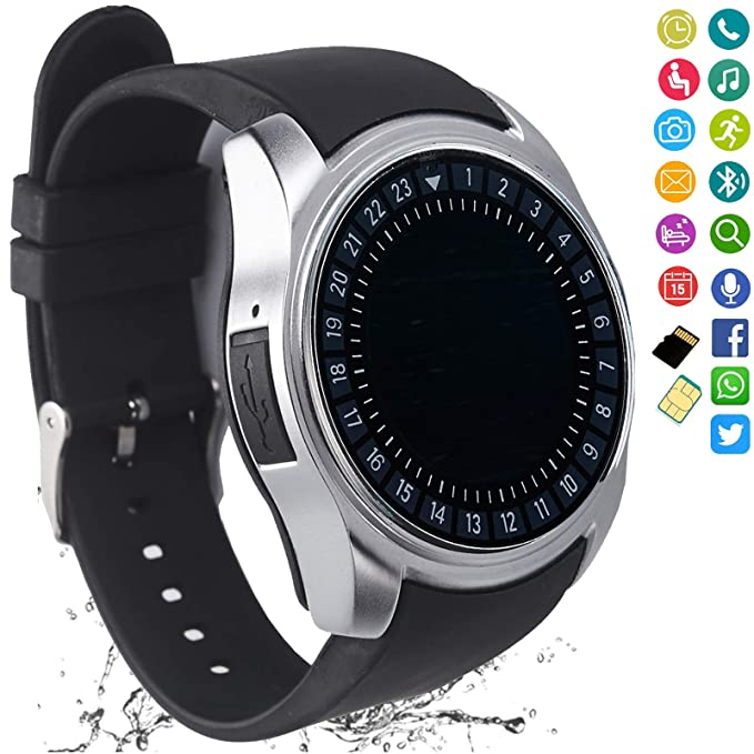 Smart Watch Women Men Bluetooth Smartwatch Touch Screen Unlocked Phone  Camera Pedometer Text Call Sports Fitness Activity Tracker