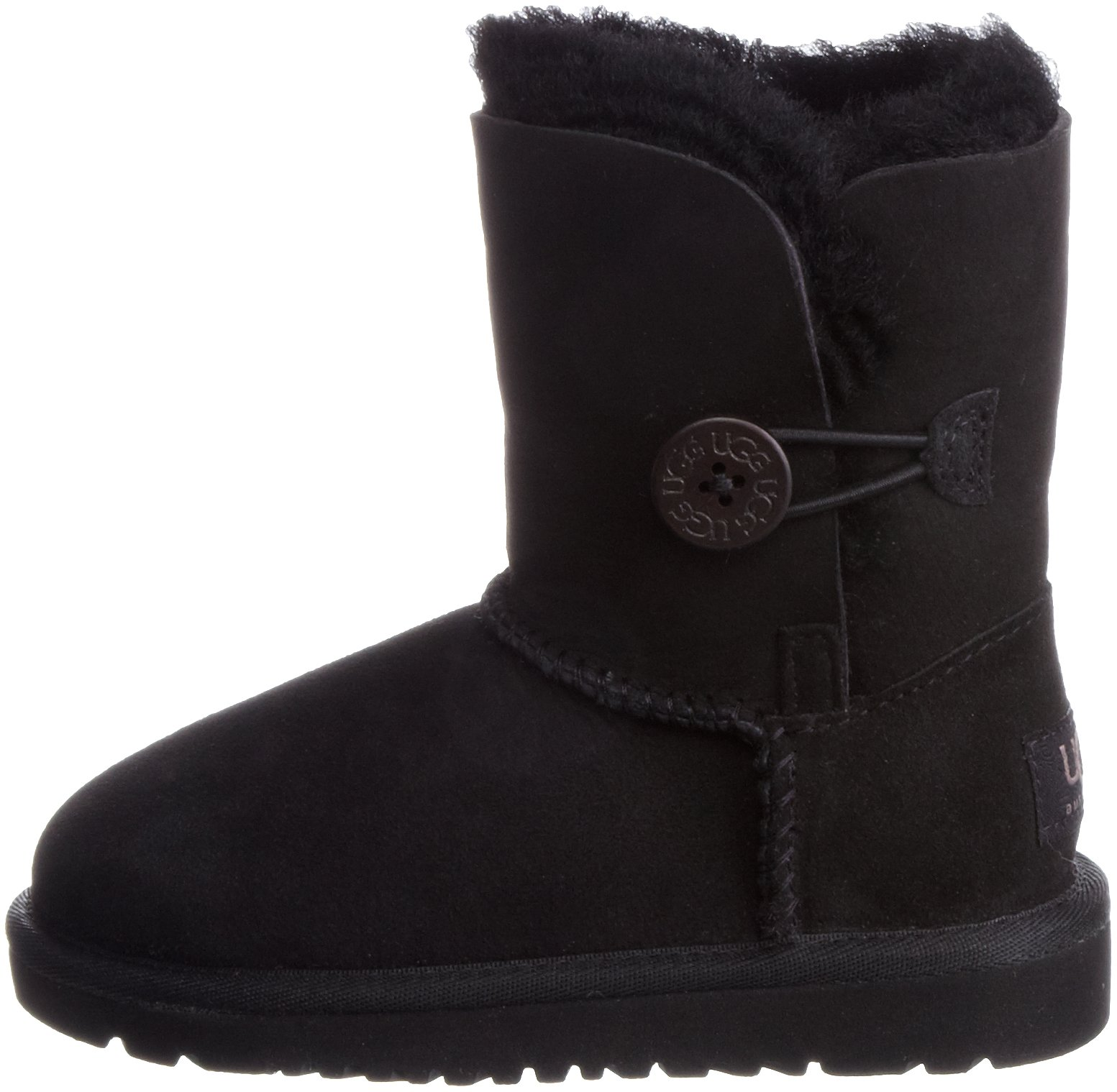 UGG Bailey Button Boot Kids, Black, 6 M US by UGG (Image #5)