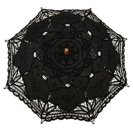 f4474b48341f 38x64cm , Black : lace umbrella - SODIAL(R) Victorian umbrella ...