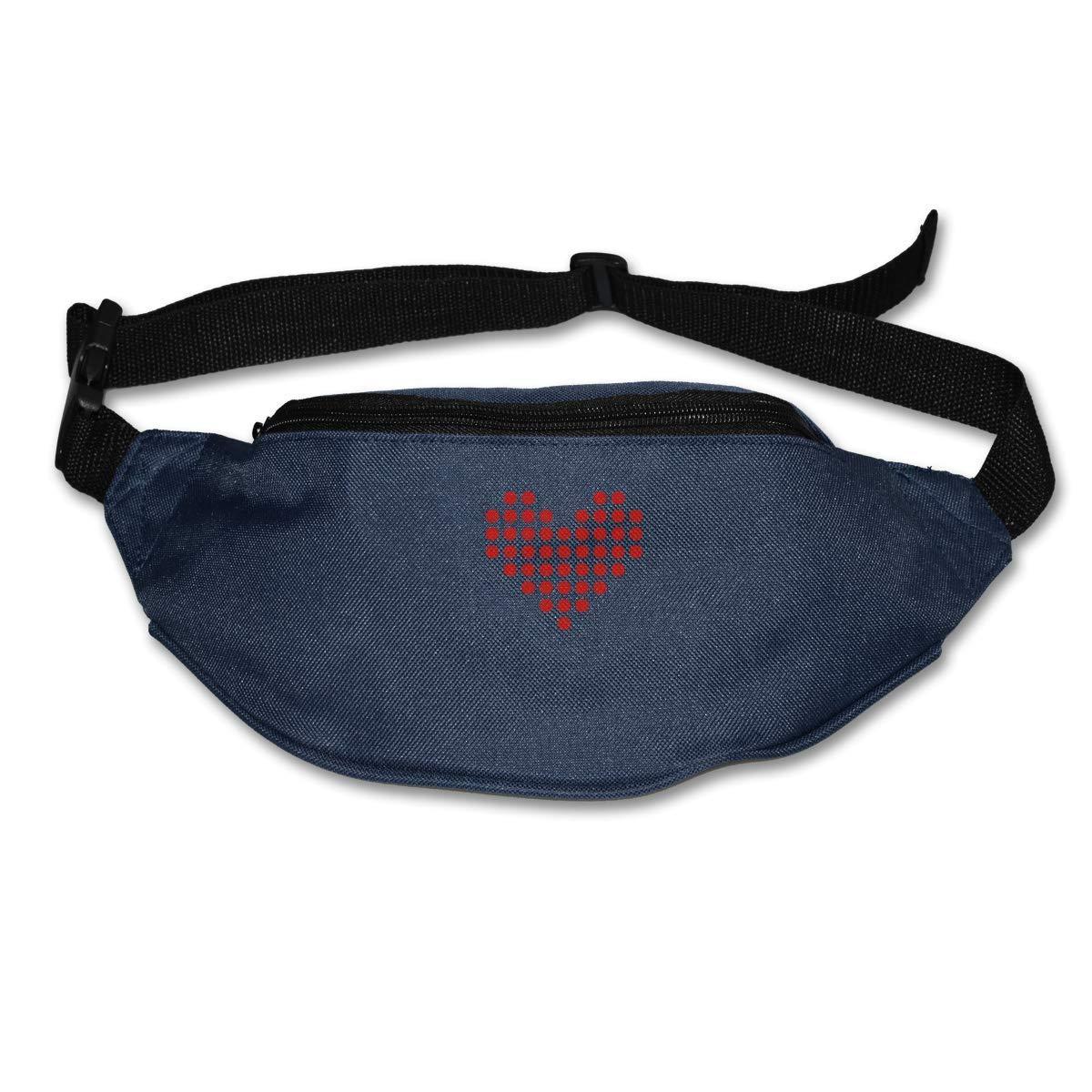 Novelty Colorful Cute Heart God Bless You Canvas Running Waist Pack Bag