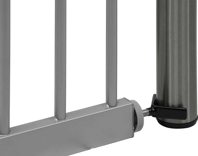 sans percage ib style/® MEGANE Barri/ère de s/écurit/é 74-87 cm /à pression Argent/é